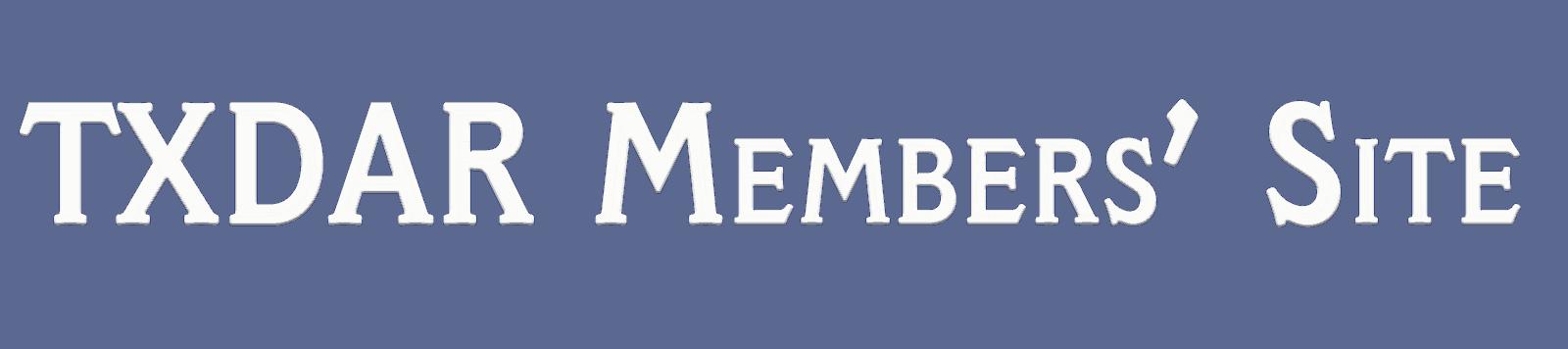 TXDAR Member's Site